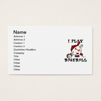 Funny I Play Baseball Tshirts and Gifts Business Card