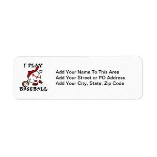 Funny I Play Baseball Tshirts and Gifts Return Address Label
