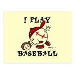 Funny I Play Baseball Tshirts and Gifts Postcard