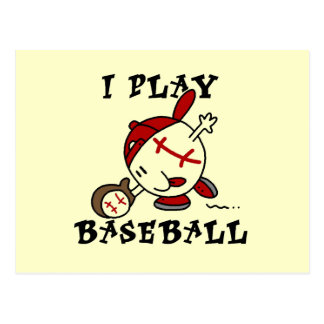 Funny I Play Baseball Tshirts and Gifts Postcard