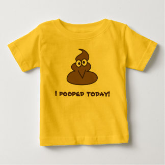 Funny I Pooped Today Emoji Baby T-Shirt
