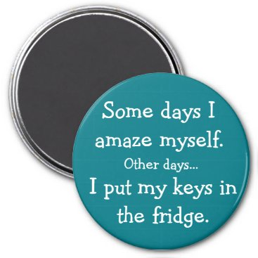 Funny I Put My Keys in the Fridge Round Magnet