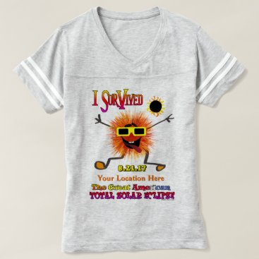 Beach Themed Funny I Survived The Great American Solar Eclipse T-shirt