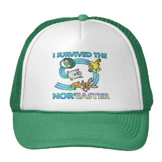 Funny I Survived the Nor'Easter Trucker Hat