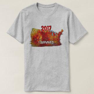 Funny I Survived Us Summer Heat Wave Map T Shirt