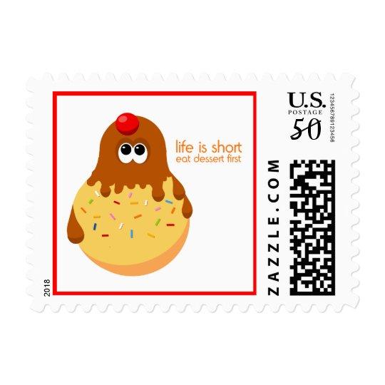 Funny Ice Cream Dessert Stamps