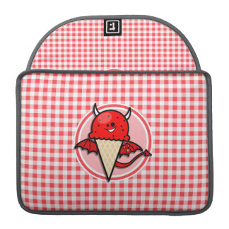 Funny Ice Cream Devil; Red and White Gingham Sleeves For MacBook Pro