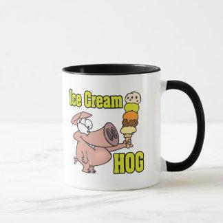 funny ice cream hog piggy pig cartoon mug