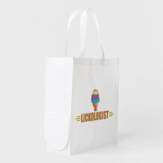 Funny Ice Cream Reusable Grocery Bag