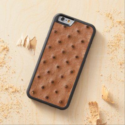 Funny Ice Cream Sandwich Carved® Maple iPhone 6 Bumper Case