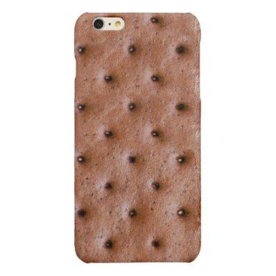 Funny Ice Cream Sandwich Pattern Glossy iPhone 6 Plus Case
