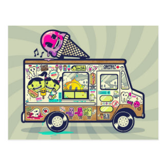 Funny Ice Cream Van Postcard