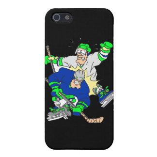 funny ice hockey collision graphic iPhone SE/5/5s cover