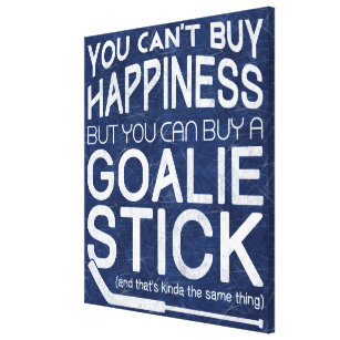 Funny Ice Hockey Goalie Artwork Canvas Print