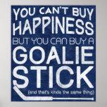 Funny Ice Hockey Goalie Artwork Poster