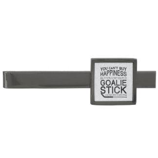 Funny Ice Hockey Goalie Design Gunmetal Finish Tie Clip