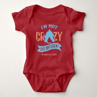 Funny Ice Hockey Goaltender Baby Tee