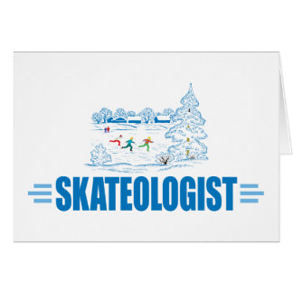 Funny Ice Skating Card
