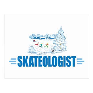 Funny Ice Skating Postcard