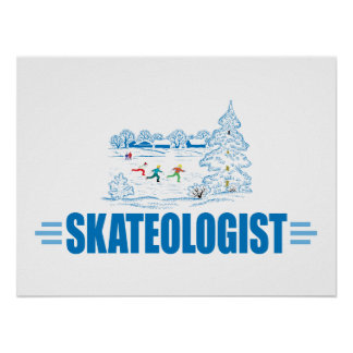 Funny Ice Skating Poster