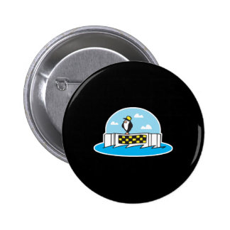 funny iceberg taxi penguin pinback button