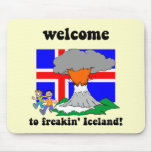 Funny Iceland volcano Mouse Pad