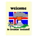 Funny Iceland volcano Postcard