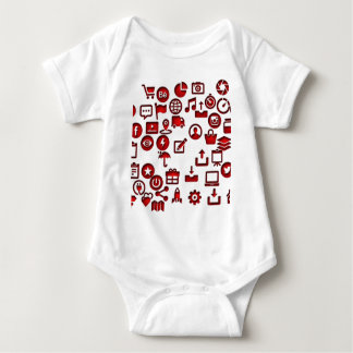 Funny icon internet baby bodysuit