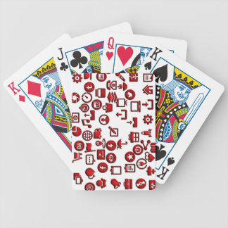 Funny icon internet bicycle playing cards