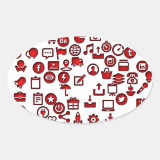 Funny icon internet oval sticker