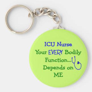 Funny ICU Nurse Key Chain