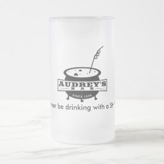 "Funny ""I'd rather be drinking with a SHIFTER"" Frosted Glass Beer Mug"