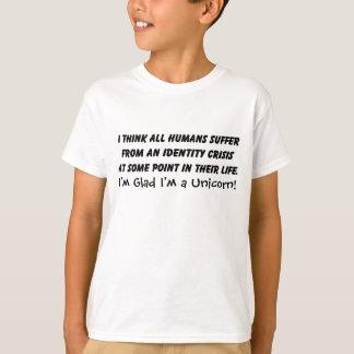 Funny Identidy Crisis Unicorn Saying T-Shirt