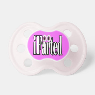 Funny iFarted baby girls Pacifiers