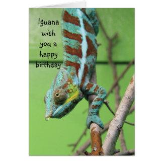 Funny Iguana Birthday Card, share the cake Card