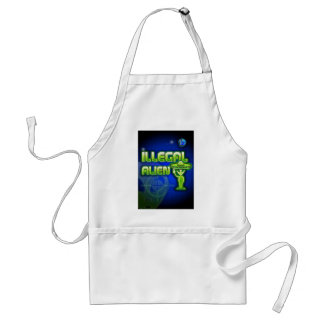 Funny Illegal Alien Adult Apron