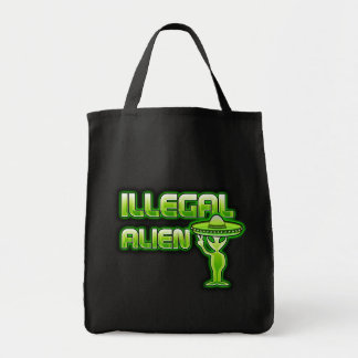 Funny Illegal Alien Tote Bags