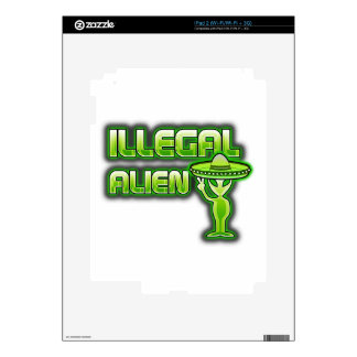 Funny Illegal Alien Decal For iPad 2