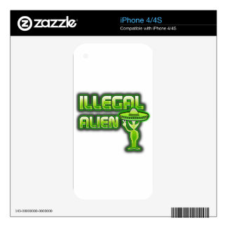 Funny Illegal Alien Decal For The iPhone 4S