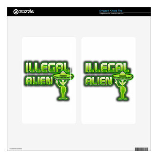 Funny Illegal Alien Kindle Fire Decal