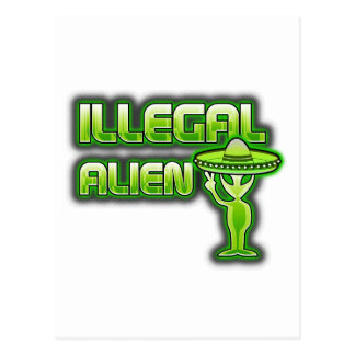 Funny Illegal Alien Postcard