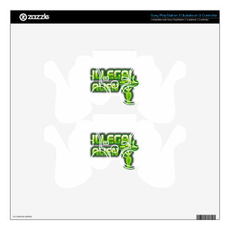 Funny Illegal Alien PS3 Controller Skins