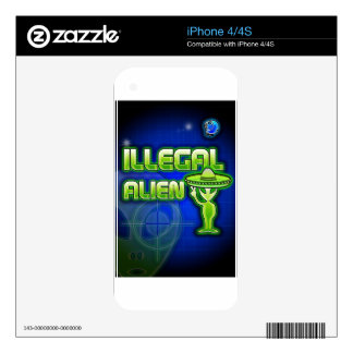 Funny Illegal Alien iPhone 4 Skins