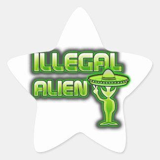 Funny Illegal Alien Star Sticker
