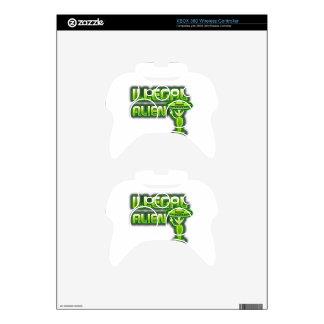 Funny Illegal Alien Xbox 360 Controller Skin