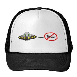 Funny Illegal Aliens Against Trump Cartooon Trucker Hat