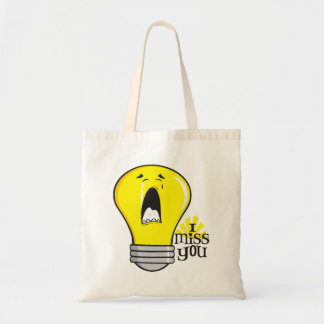 Funny illegal incandescent crying light bulb tote bag