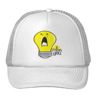 Funny illegal incandescent crying light bulb trucker hat