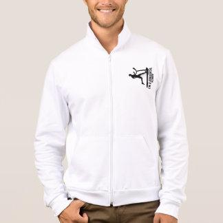 Funny I'm a Horizontal Runner Fleece Zip Jogger Jacket