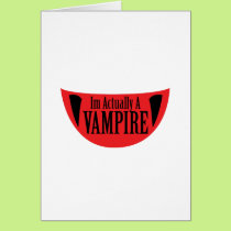 Funny Im Actually A Vampire Halloween Meme Funny Card